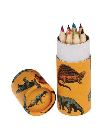 Drewniane kredki 12 szt., Dinozaury, Rex London