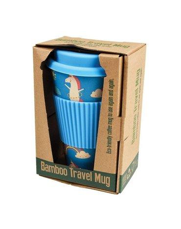 Kubek bambusowy podróżny 400 ml, Jednorożec, Rex London