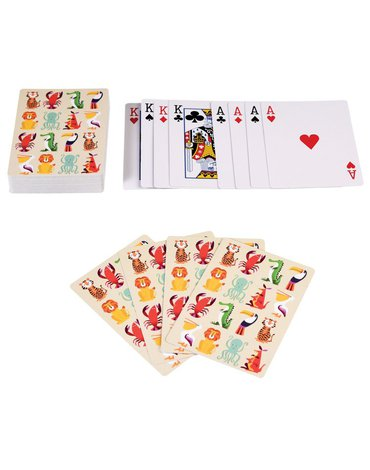 Karty do gry w puszce, Kolorowe Zwierzaki, Rex London