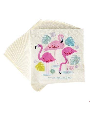 Serwetki koktajlowe 20 szt., Flamingo Bay, Rex London