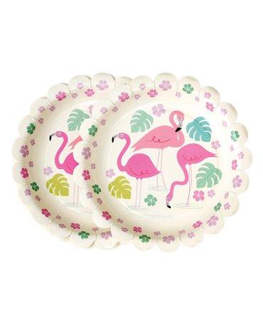 Talerzyki papierowe 8 szt., Flamingo Bay, Rex London