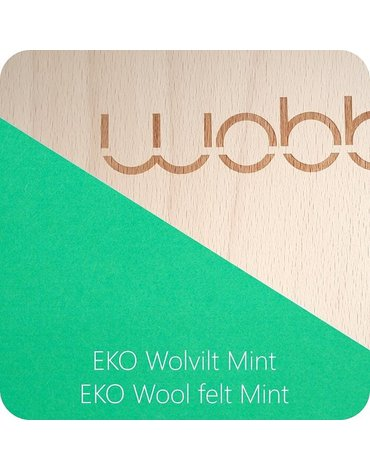Deska do balansowania Original z filcem, Mint, Wobbel