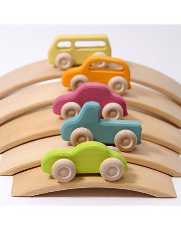 Samochodziki 5 szt., Slimeline, kolorowe, Grimm's
