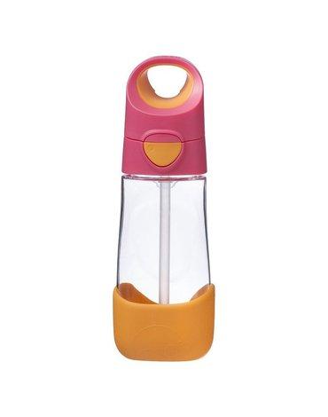 b.box Tritanowa butelka ze słomką 450 ml, Strawberry Shake