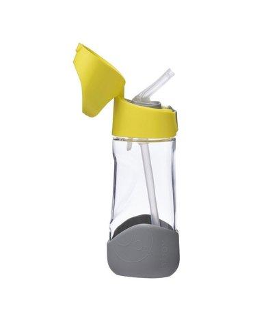 b.box Butelka tritanowa ze słomką 450 ml, Lemon Sherbet,