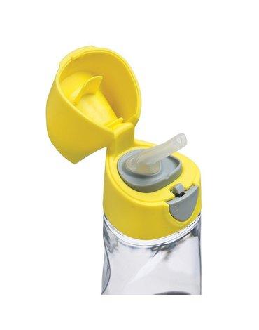 Butelka tritanowa ze słomką 450 ml, Lemon Sherbet, b.box