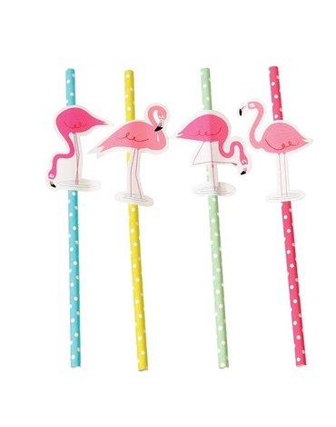 Słomki papierowe 4 szt., Flamingo Bay, Rex London