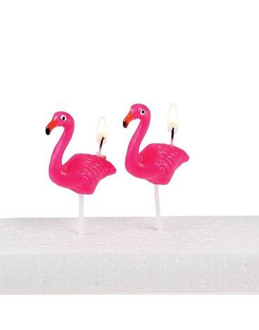 Świeczki na tort 5 szt., Flamingo Bay, Rex London