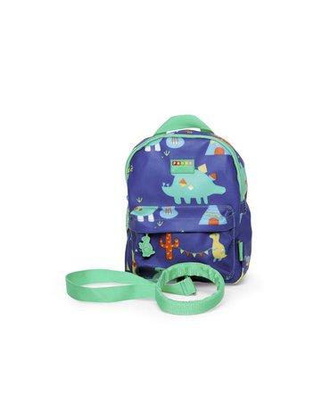 Penny Scallan Design - Plecak ze smyczą, Dinozaury, granatowy, Penny Scallan