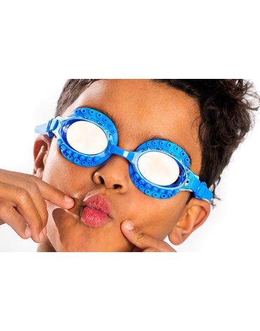Okulary do pływania, Ośmiornica, niebieskie, Bling2O