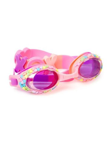 Okulary do pływania, Pastelowe Serduszka, Bling2O
