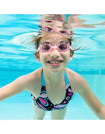Okulary do pływania, Rzęsy, Różowe, Bling2O