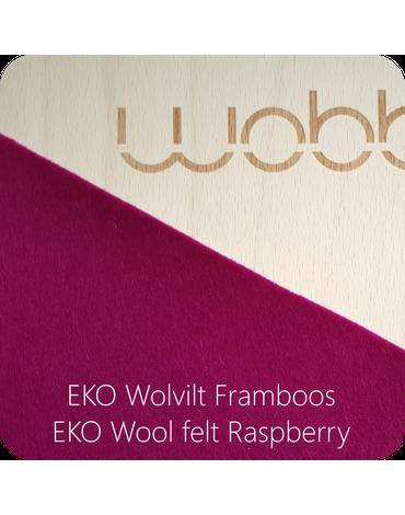 Deska do balansowania Original z filcem, Raspberry, Wobbel
