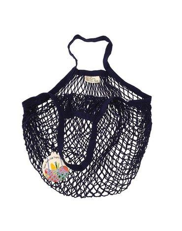Siatkowa torba na zakupy, granatowa, Rex London