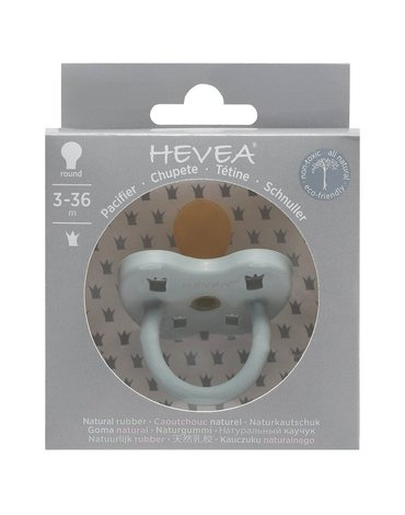 Okrągły smoczek kauczukowy, 3-36 msc, Gorgeous grey, HEVEA