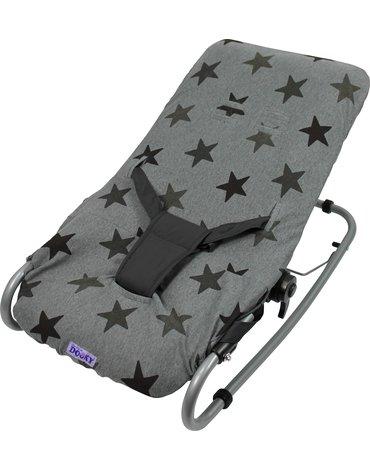 Xplorys - Pokrowiec na leżaczek Dooky Bouncer Cover - Grey Stars