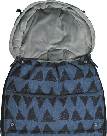 Xplorys - Śpiworek do wózka Dooky Blue Tribal 6-36m