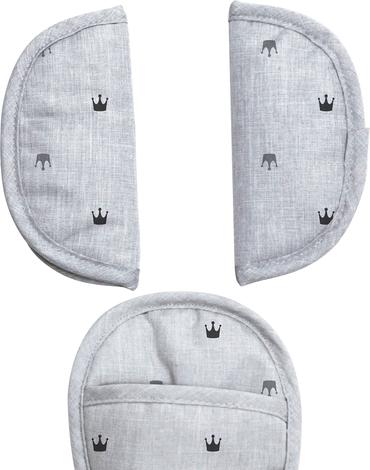 Xplorys - Uniwersalne nakładki na pasy Dooky - Light Grey Crowns