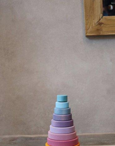 Wieża stożkowa 0+, pastelowa, Grimm's