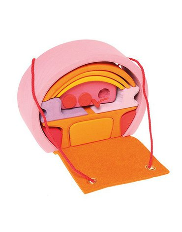Dom mobilny 3+, różowo-pomarańczowy, Grimm's