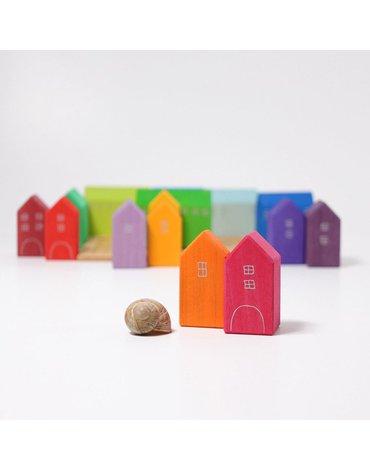 Domki ręcznie malowane, tęczowe, Grimm's
