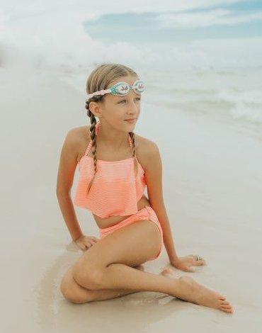 Okulary do pływania, Różowa Syrenka, Bling2O Bling2o