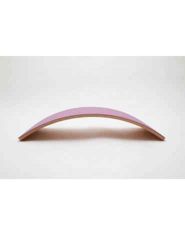 Deska do balansowania Wobbel Starter Transparent z filcem - wild rose