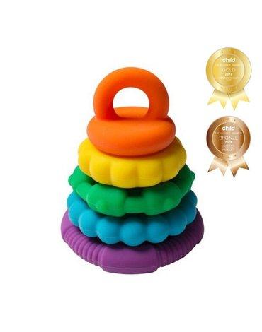 Jellystone Designs - Silikonowy gryzak wieża, tęczowy, Jellystone
