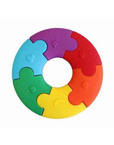 Jellystone Designs - Pierwsze puzzle sensoryczne, tęczowe kółko, Jellystone Design