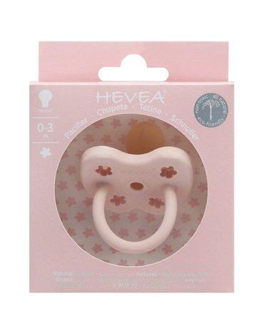 Okrągły smoczek kauczukowy, 0-3 msc, Powder Pink, HEVEA