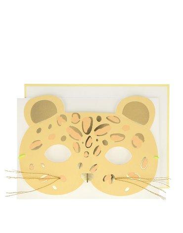 Meri Meri - Kartka okolicznościowa 3D Maska leopard