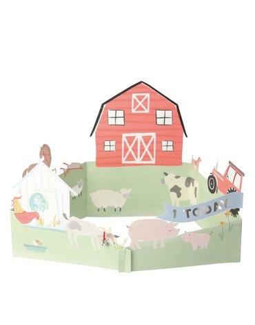 producent niezdefiniowany - Kartka okolicznościowa 3D Farma