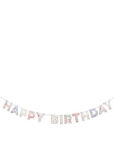 Meri Meri - Girlanda Happy Birthday English Garden