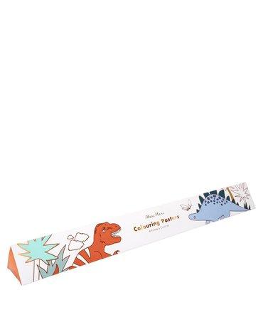 Meri Meri - Plakaty-kolorowanki Królestwo dinozaurów