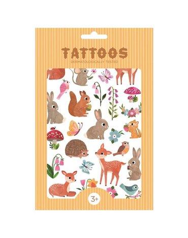 Petit Monkey -Tattoo Woodland Friends imprezowy zestaw tatuaży