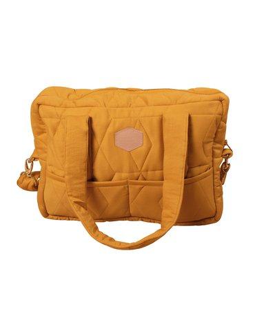 FILIBABBA - Nursing bag soft quilt, Golden mustard