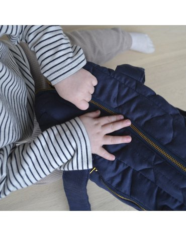 FILIBABBA - Nursing bag soft quilt, Dark blue