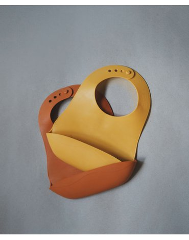 FILIBABBA - Foldable bib, Golden mustard