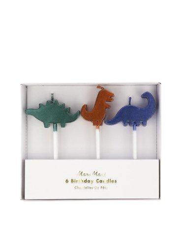 Meri Meri - Zestaw świeczek Królestwo dinozaurów
