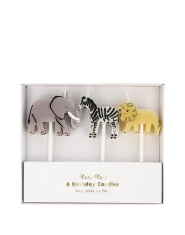 Meri Meri - Zestaw świeczek Safari animals