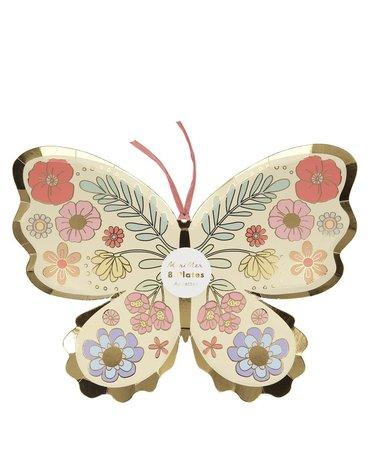 Meri Meri - Talerzyki Motyl kwiatowy