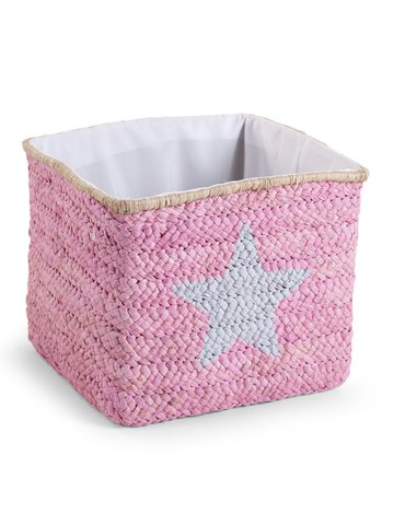 CHILDHOME - Pudełko plecione 30x33x33 star&cloud róż