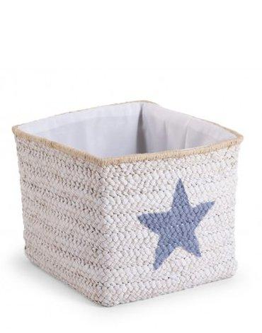 CHILDHOME - Pudełko plecione 30x33x33 star&cloud biały