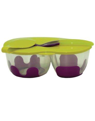 Pojemnik podwójny na żywność, fioletowo-zielony, b.box