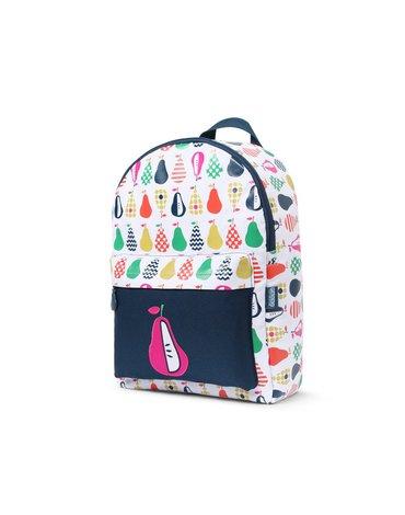 Penny Scallan Design - Duży plecak biało-granatowy w gruszki Penny Scallan