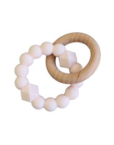 Jellystone Designs - Gryzak dla dziecka, drewno i silikon, jasnoróżowy, Jellystone Design
