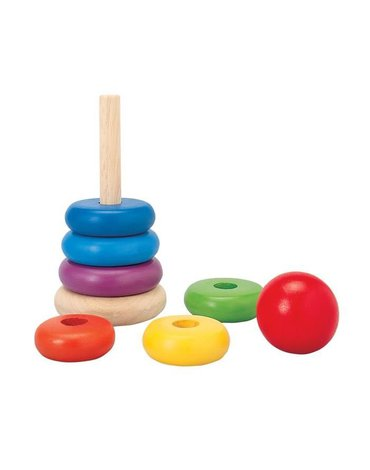 Drewniana wieża, klocki na patyku Plan Toys®