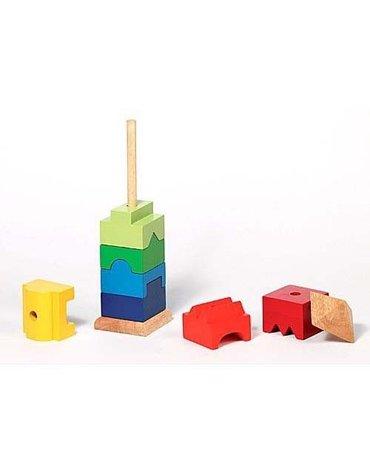 Goki® - Drewniana układanka na patyku Wieża, Goki 58893