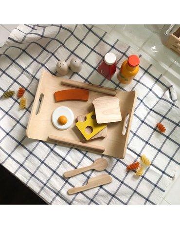 Śniadanie na tacy, drewniany zestaw do zabawy, Plan Toys®