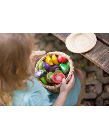 Warzywa i owoce na tacy, drewniany zestaw Plan Toys®